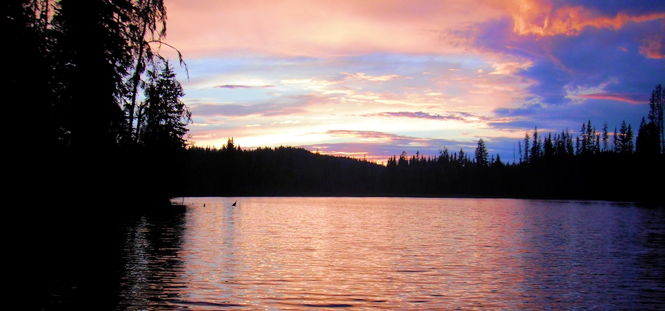 Sunset on Thuya Lakes Lodge