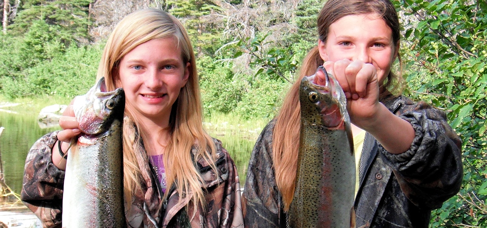 Two trout for two girls